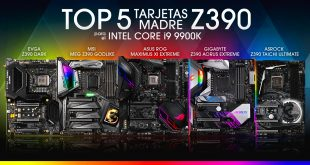 Top 5 tarjetas madre Z390 high end para el Intel Core i9-9900K