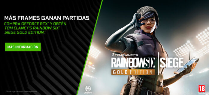Compra Nvidia RTX y recibe Rainbow Six Siege Gold Edition